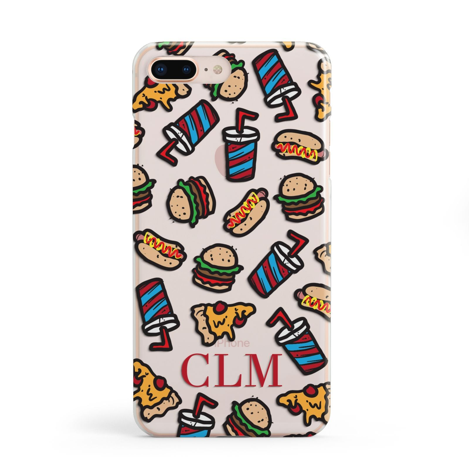 Personalised Fast Food Initials Apple iPhone 8 Plus Case