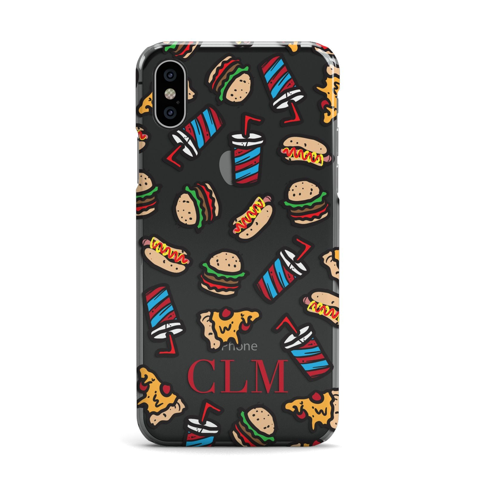 Personalised Fast Food Initials Apple iPhone X Case