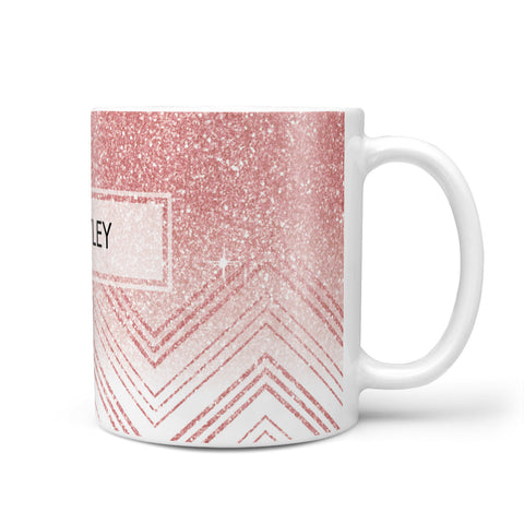 Personalised Faux Glitter Effect Name Initials Mug