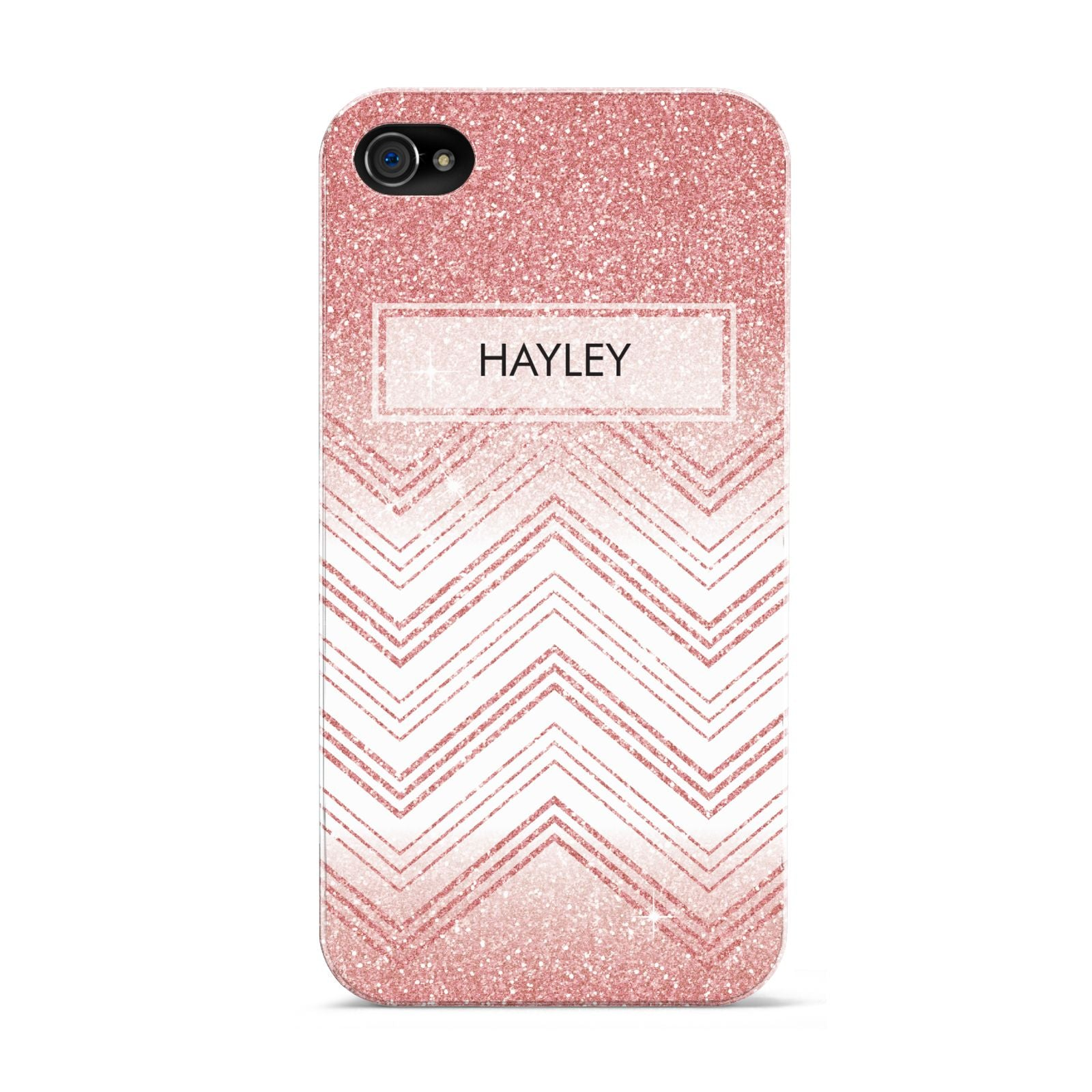 Personalised Faux Glitter Effect Name Initials Apple iPhone 4s Case