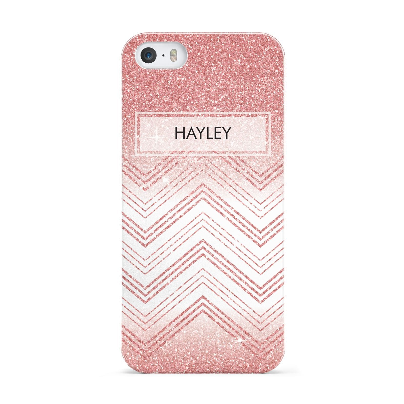 Personalised Faux Glitter Effect Name Initials Apple iPhone 5 Case