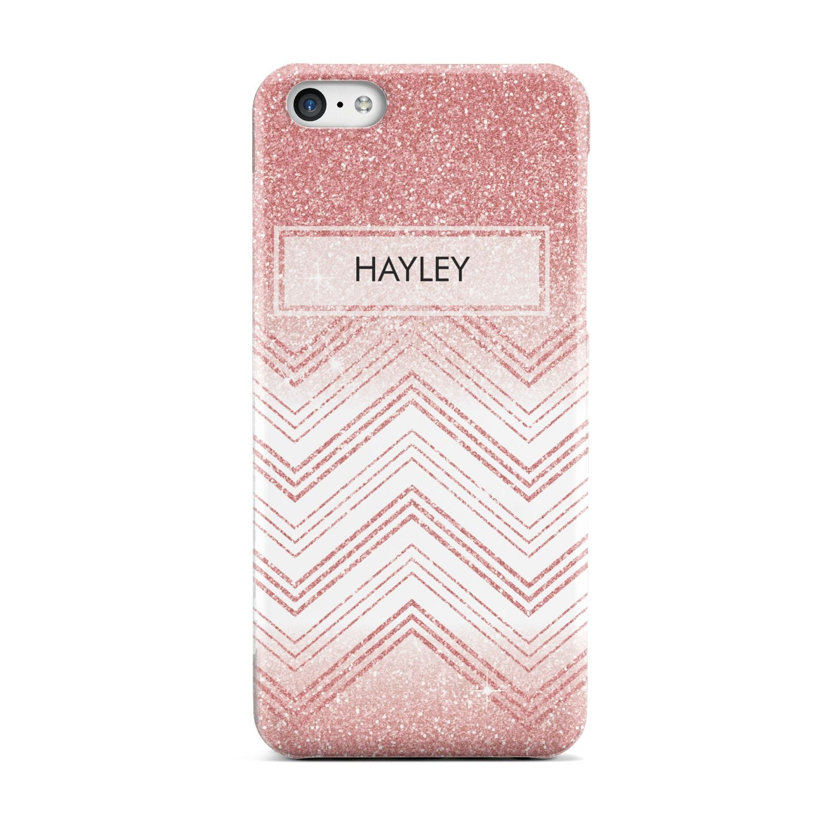 Personalised Faux Glitter Effect Name Initials Apple iPhone 5c Case
