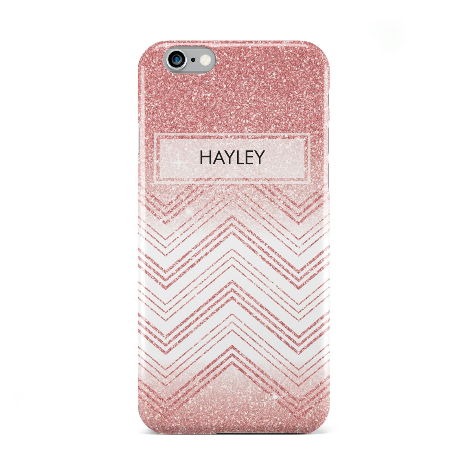 Personalised Faux Glitter Effect Name Initials Apple iPhone 6 Case
