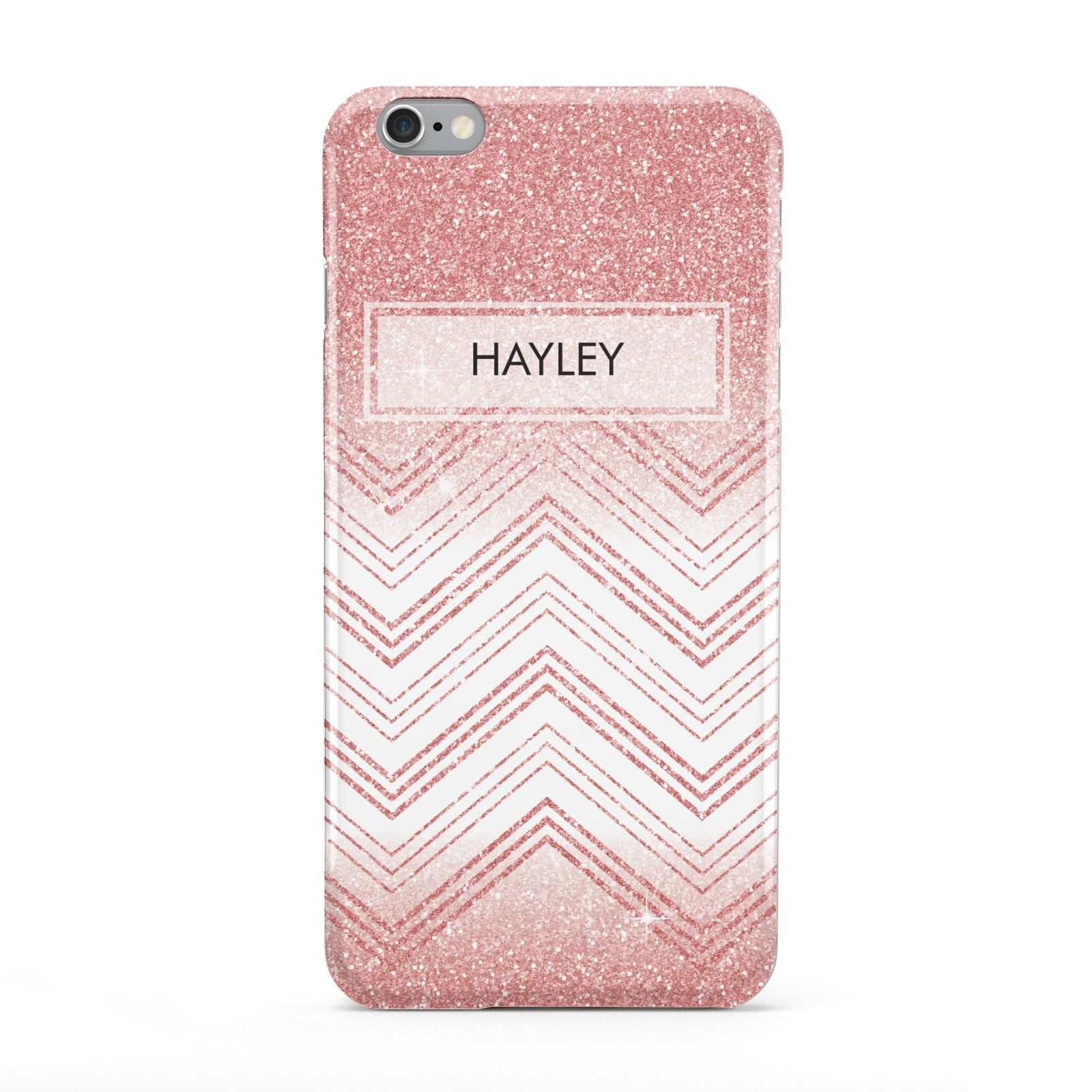 Personalised Faux Glitter Effect Name Initials Apple iPhone 6 Plus Case