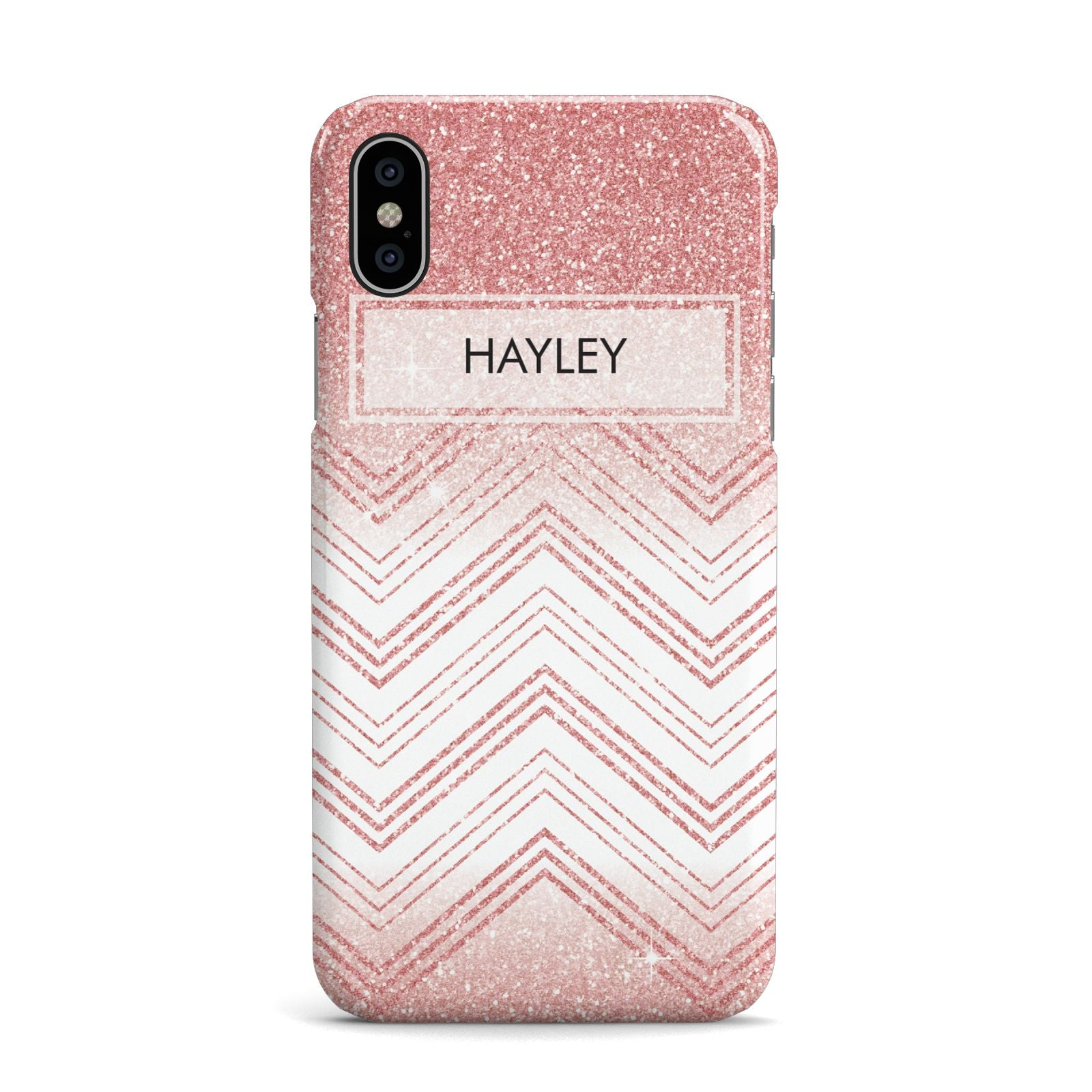 Personalised Faux Glitter Effect Name Initials Apple iPhone X Case