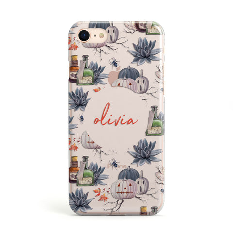 Personalised Floral Name Halloween Apple iPhone Case