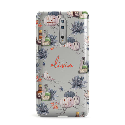 Personalised Floral Name Halloween Nokia Case