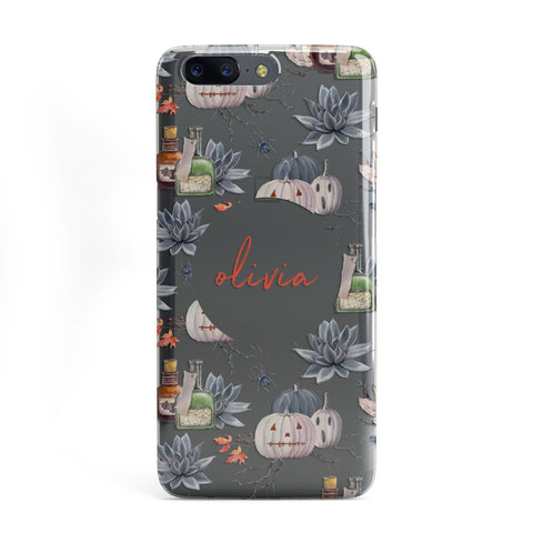 Personalised Floral Name Halloween OnePlus Case