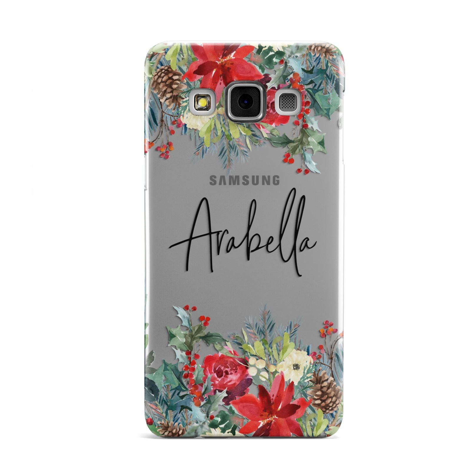 Personalised Floral Winter Arrangement Samsung Galaxy A3 Case