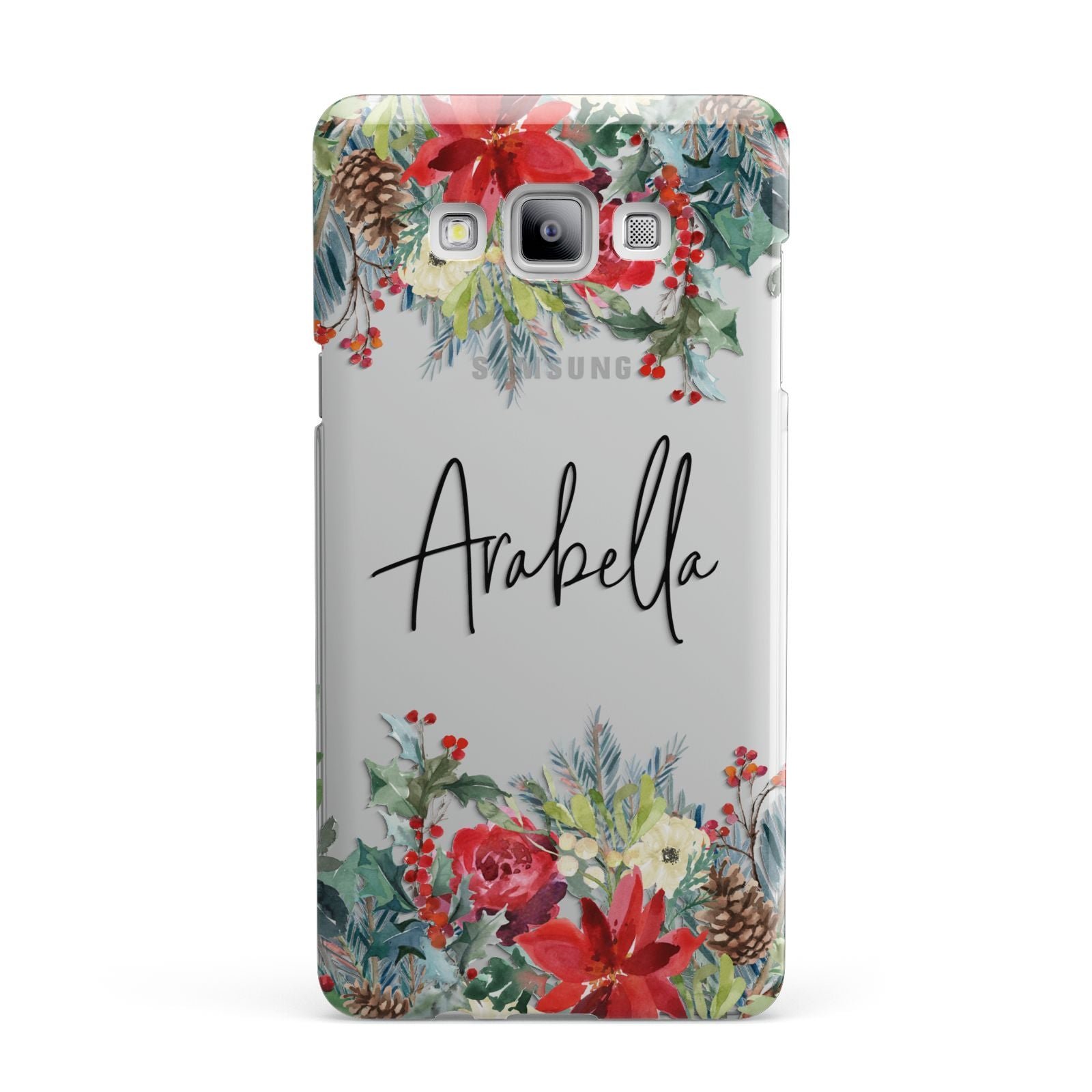 Personalised Floral Winter Arrangement Samsung Galaxy A7 2015 Case