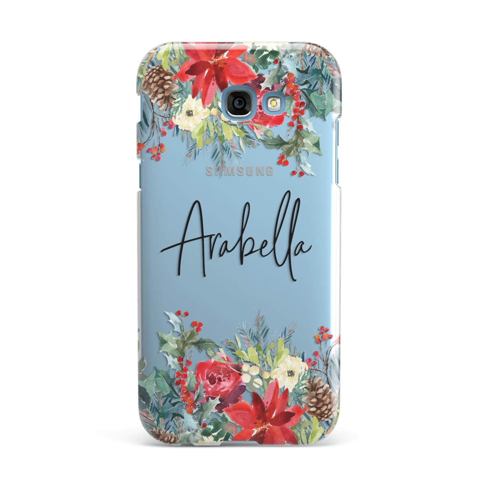 Personalised Floral Winter Arrangement Samsung Galaxy A7 2017 Case