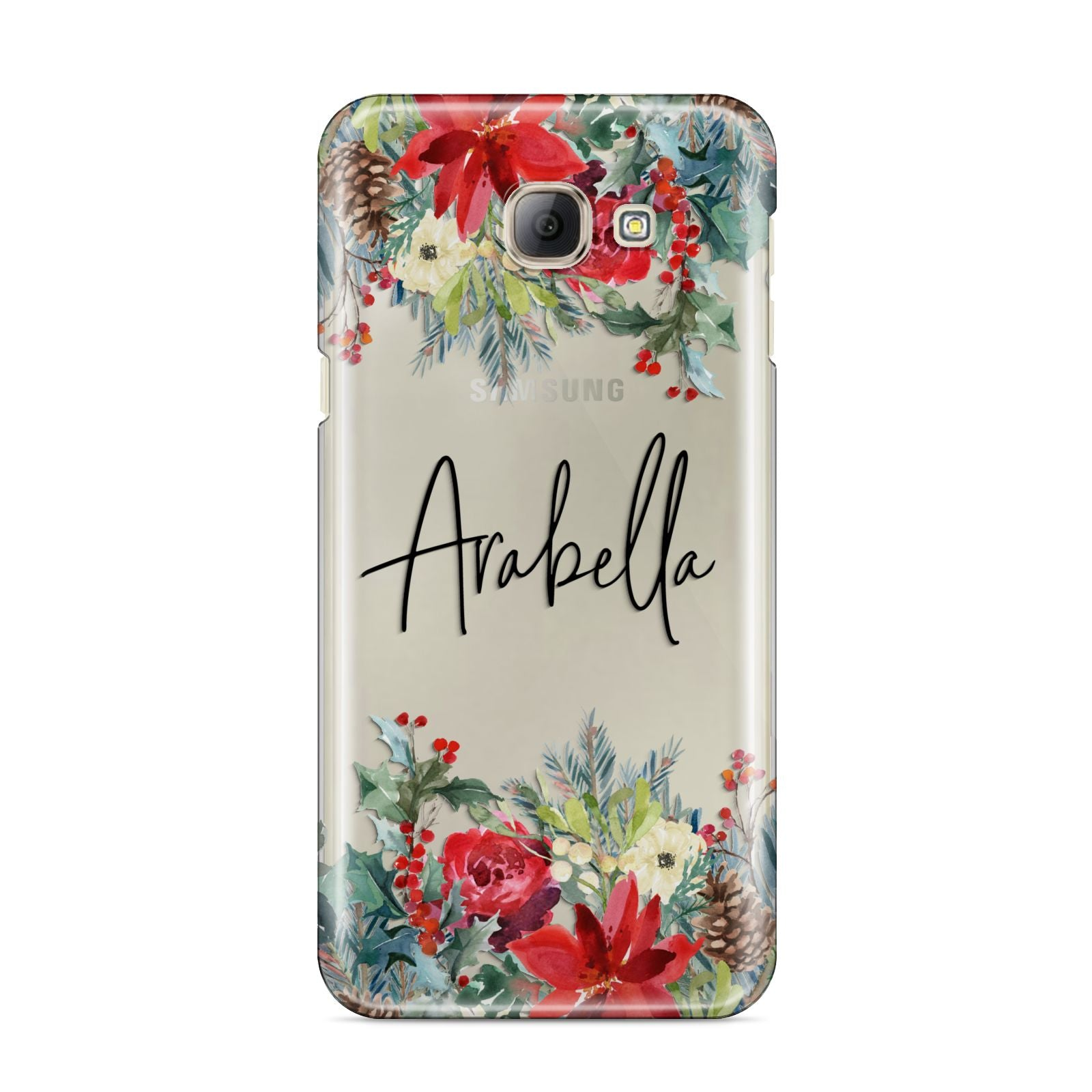 Personalised Floral Winter Arrangement Samsung Galaxy A8 2016 Case