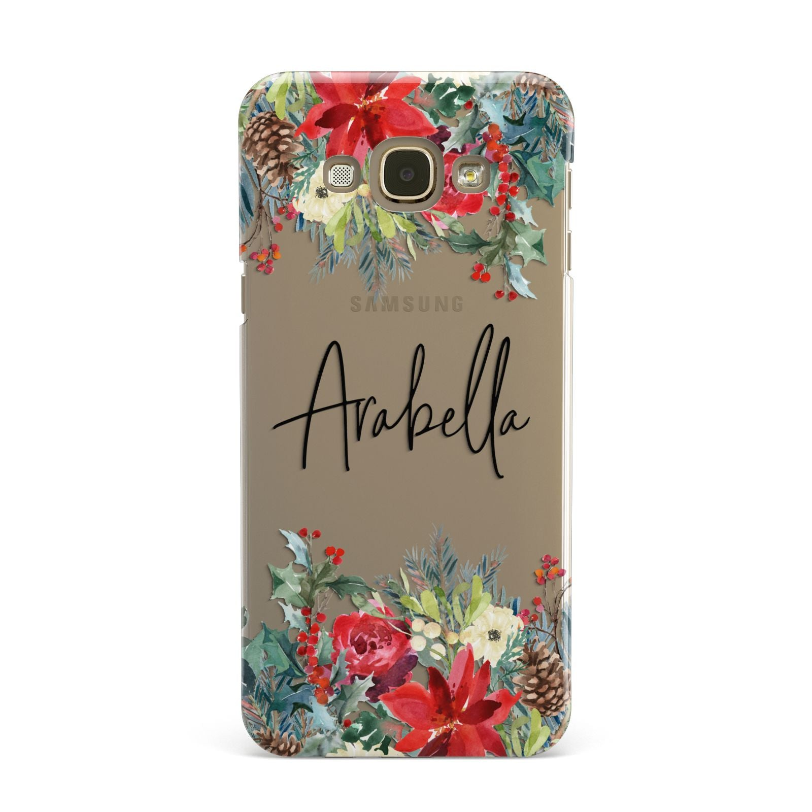 Personalised Floral Winter Arrangement Samsung Galaxy A8 Case