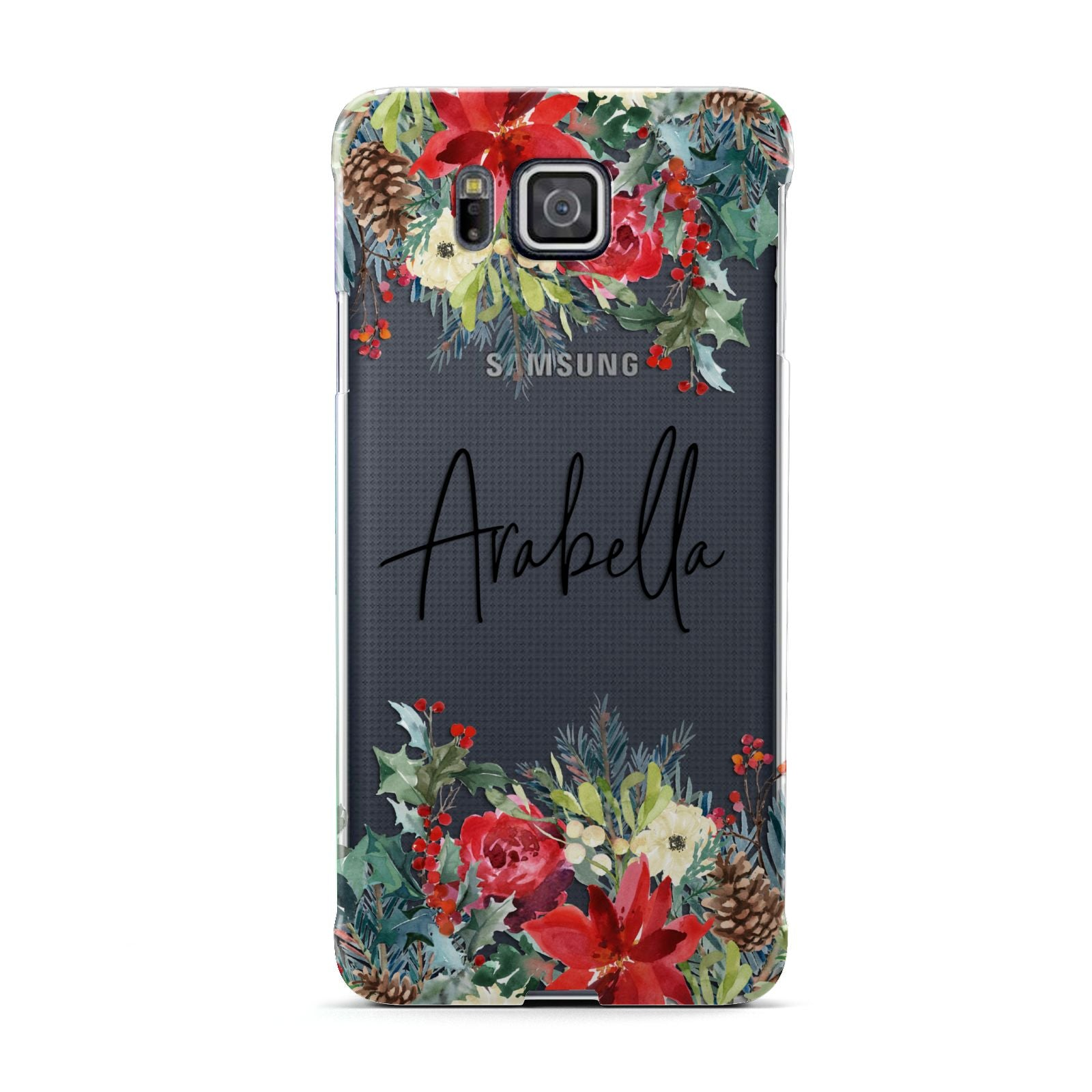 Personalised Floral Winter Arrangement Samsung Galaxy Alpha Case