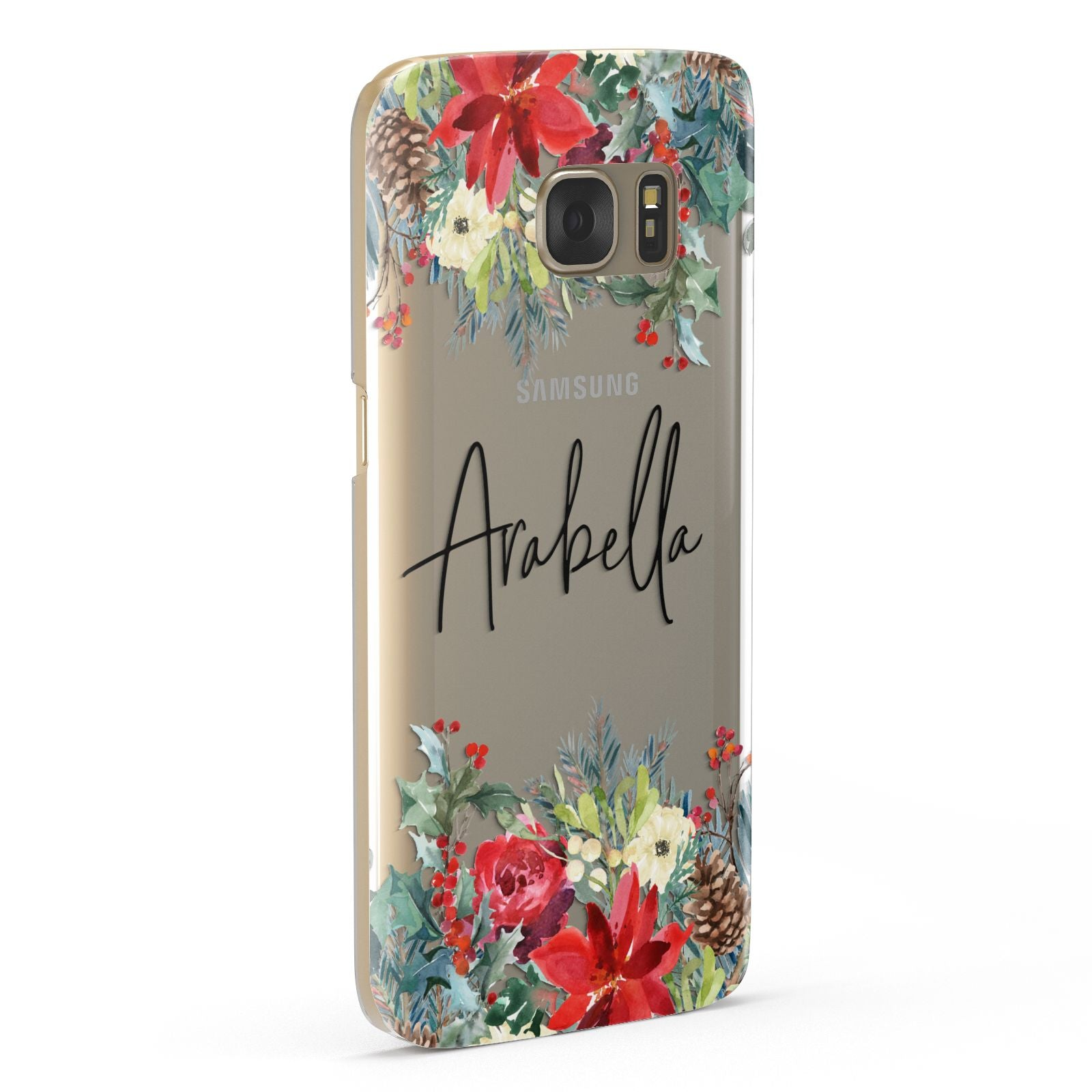 Personalised Floral Winter Arrangement Samsung Galaxy Case Fourty Five Degrees