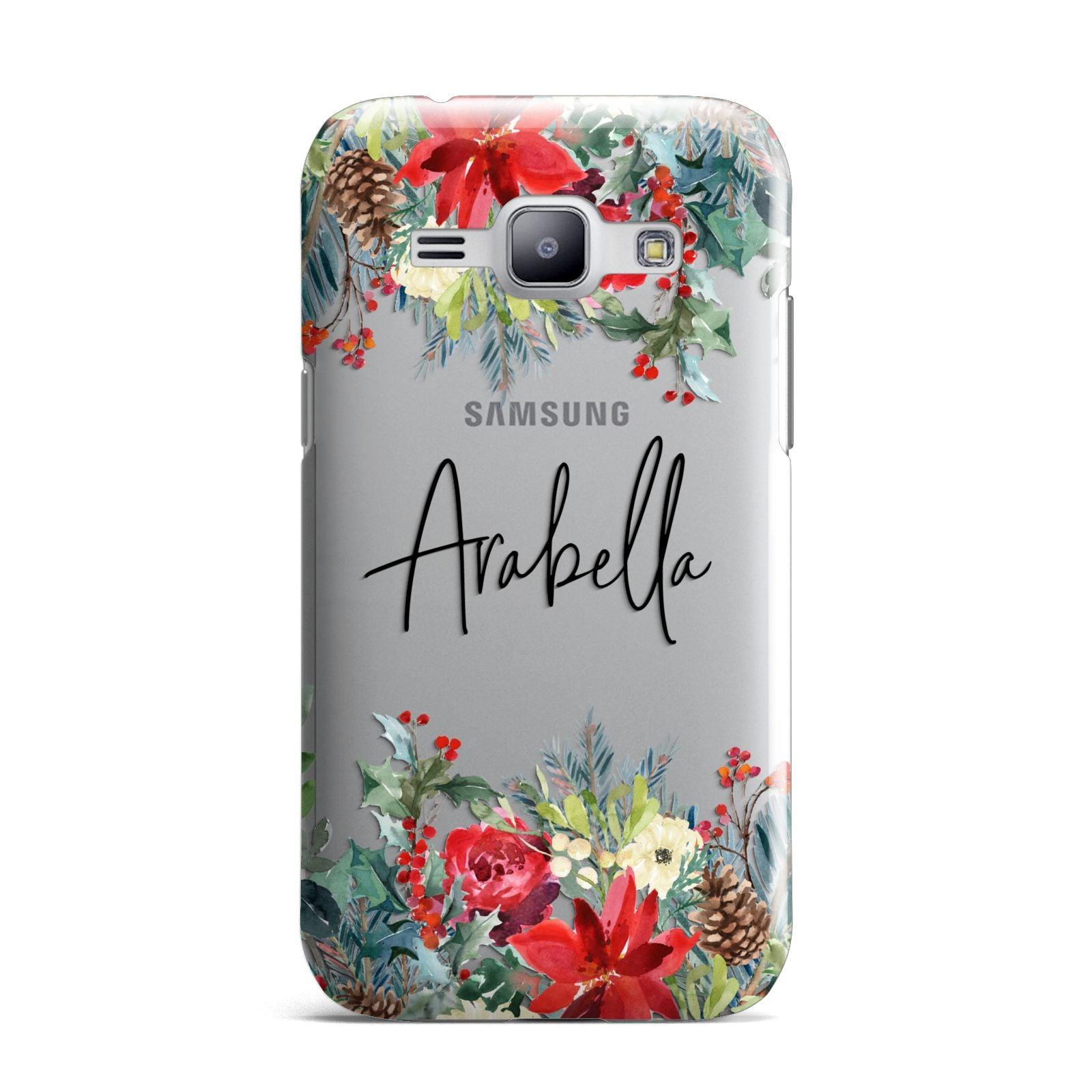 Personalised Floral Winter Arrangement Samsung Galaxy J1 2015 Case