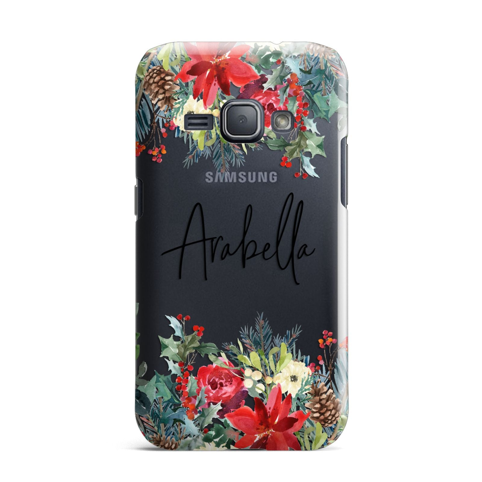 Personalised Floral Winter Arrangement Samsung Galaxy J1 2016 Case