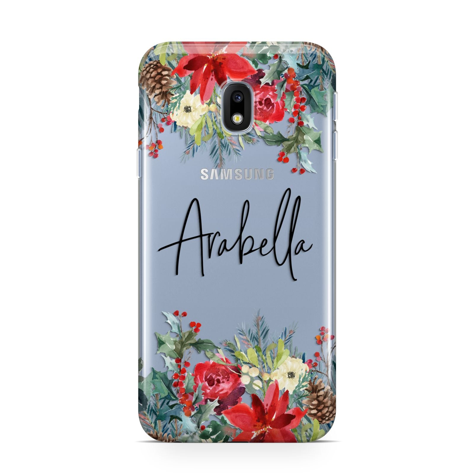 Personalised Floral Winter Arrangement Samsung Galaxy J3 2017 Case