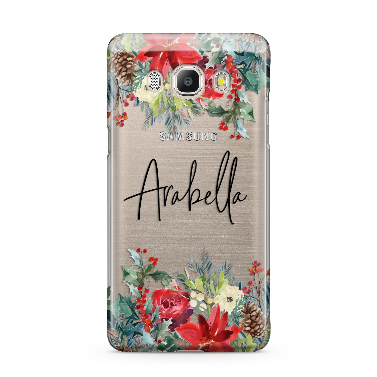 Personalised Floral Winter Arrangement Samsung Galaxy J5 2016 Case