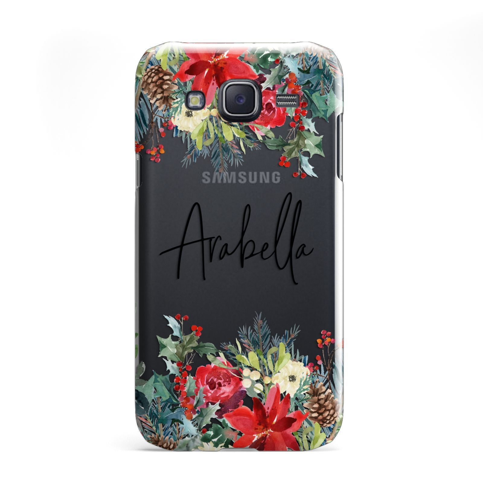 Personalised Floral Winter Arrangement Samsung Galaxy J5 Case