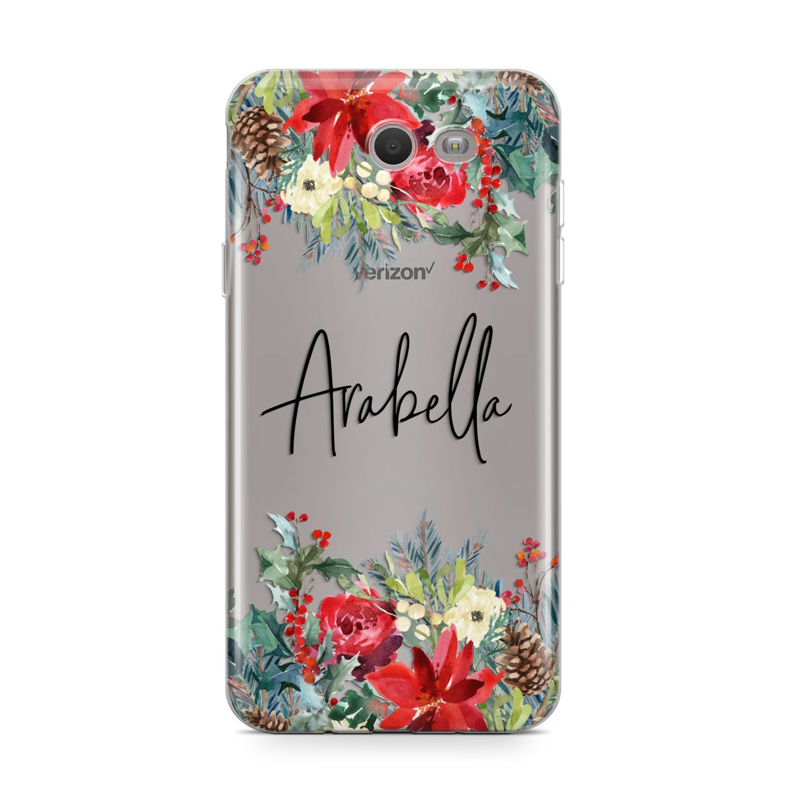 Personalised Floral Winter Arrangement Samsung Galaxy J7 2017 Case