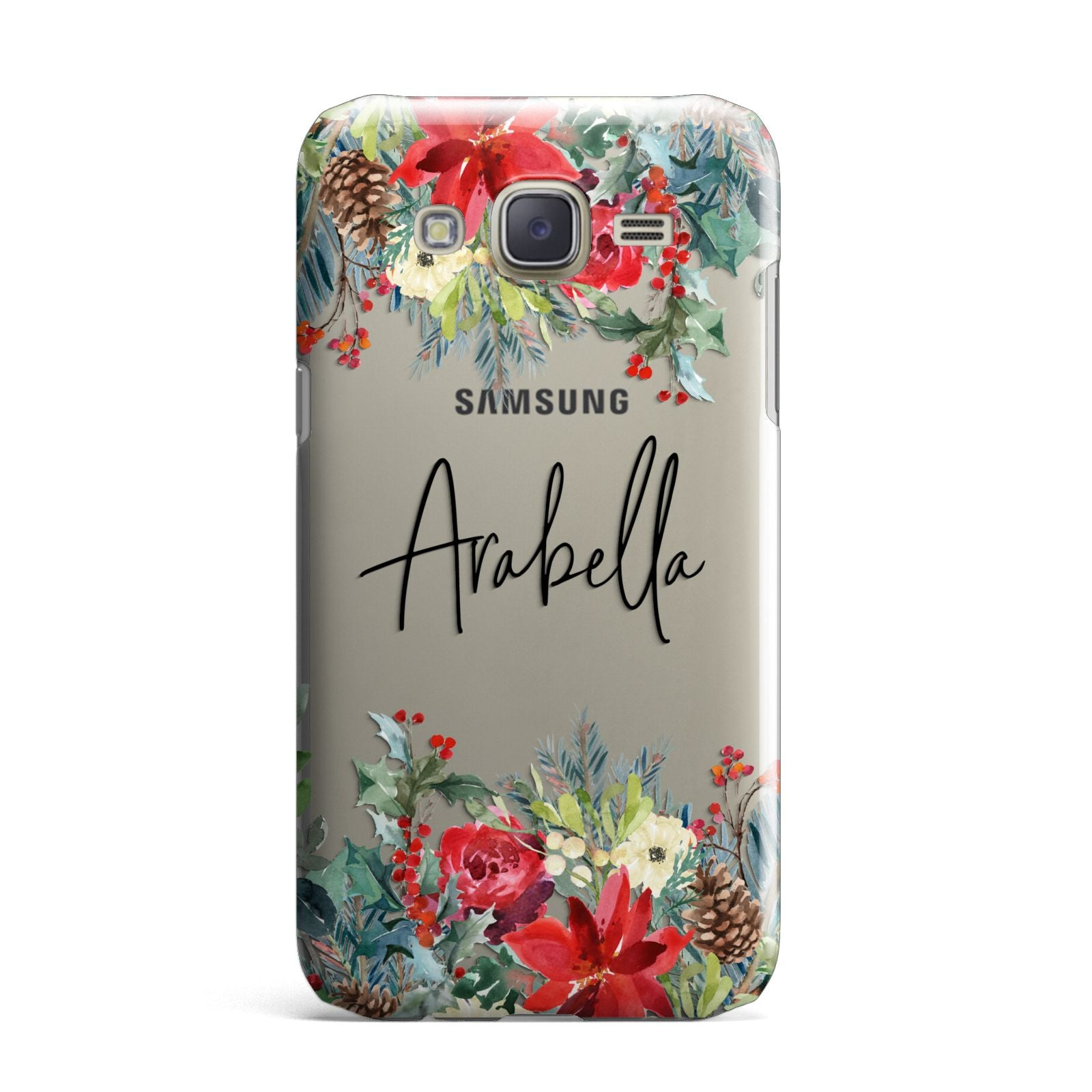 Personalised Floral Winter Arrangement Samsung Galaxy J7 Case