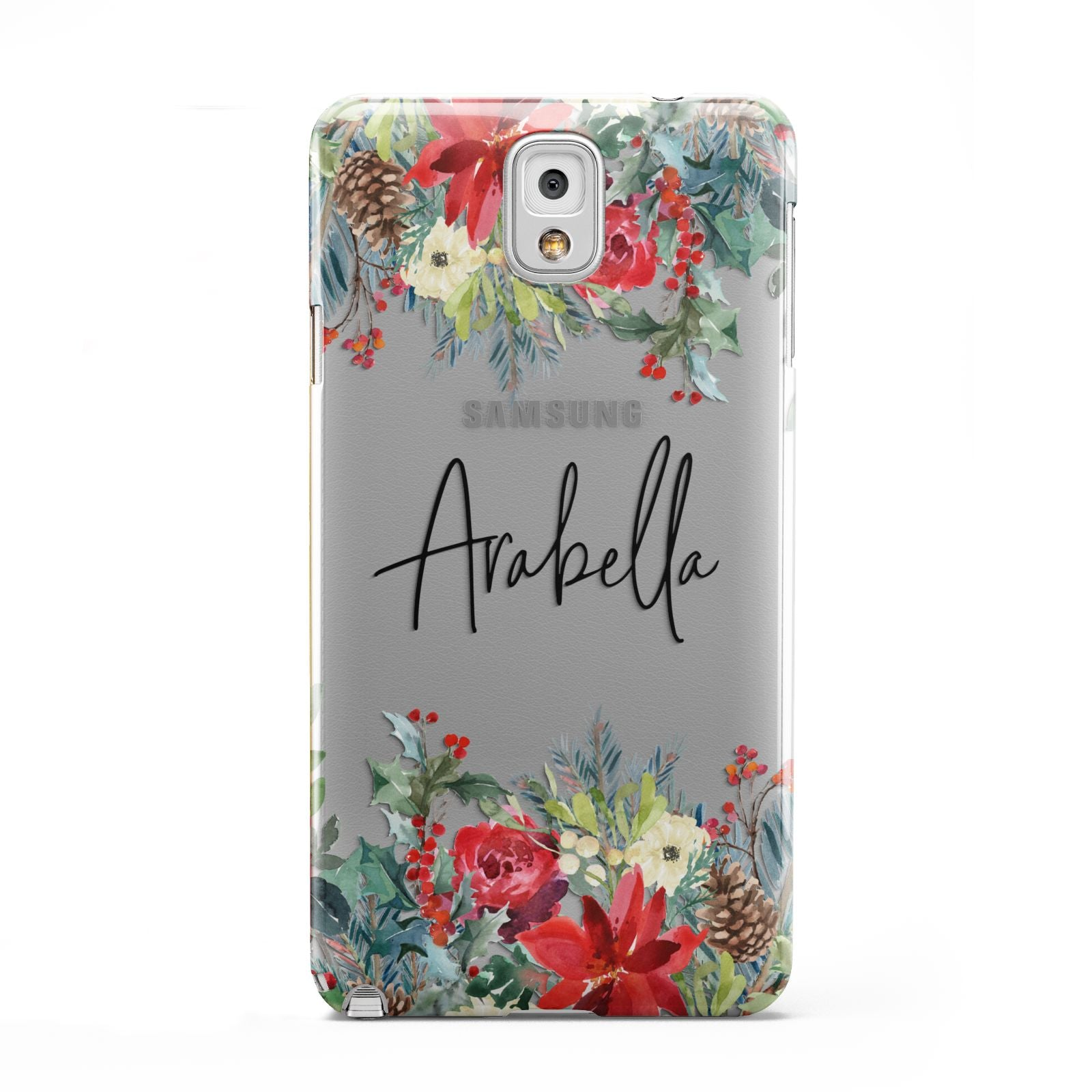 Personalised Floral Winter Arrangement Samsung Galaxy Note 3 Case