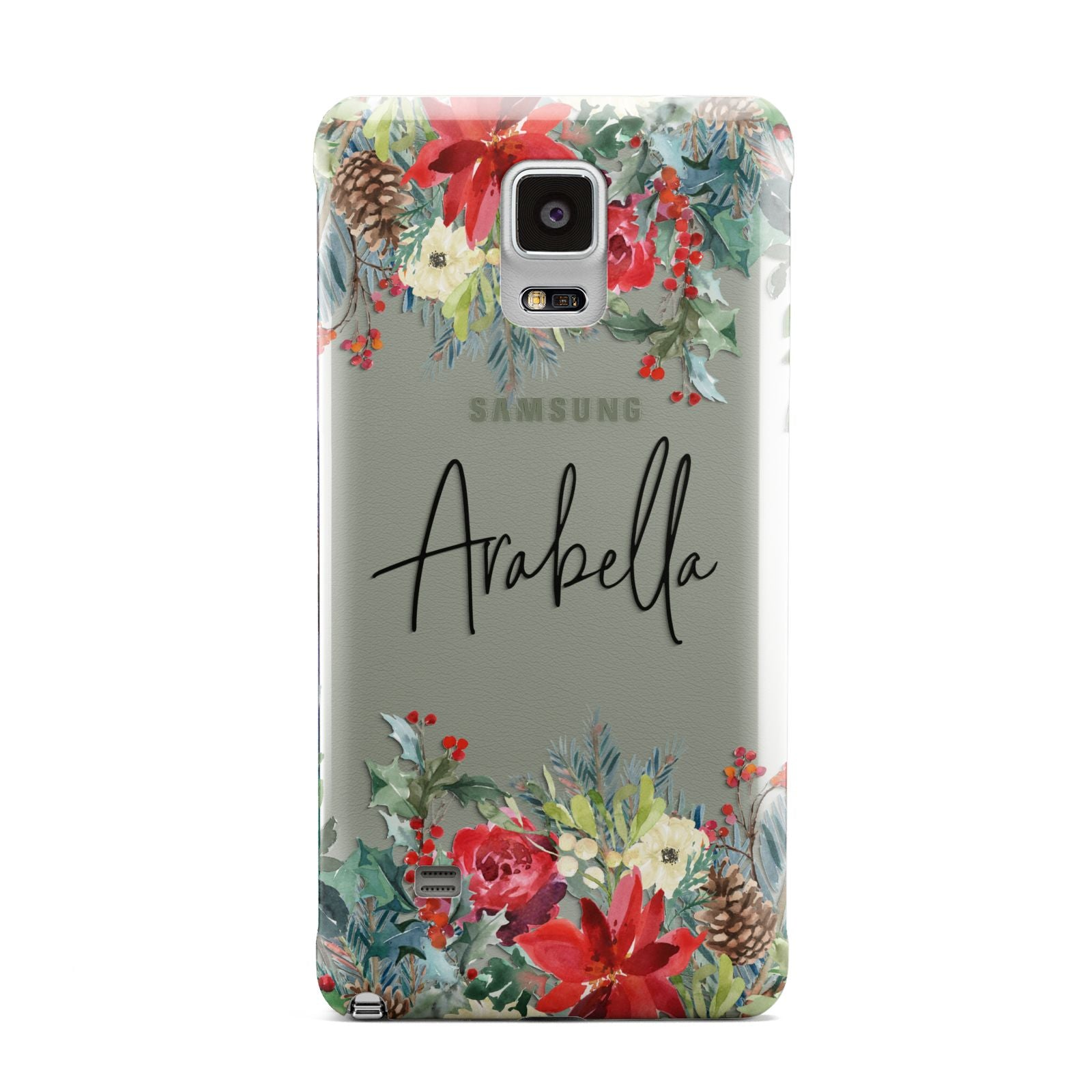 Personalised Floral Winter Arrangement Samsung Galaxy Note 4 Case