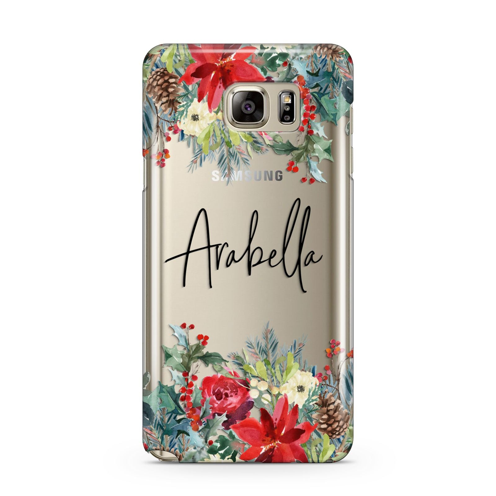 Personalised Floral Winter Arrangement Samsung Galaxy Note 5 Case