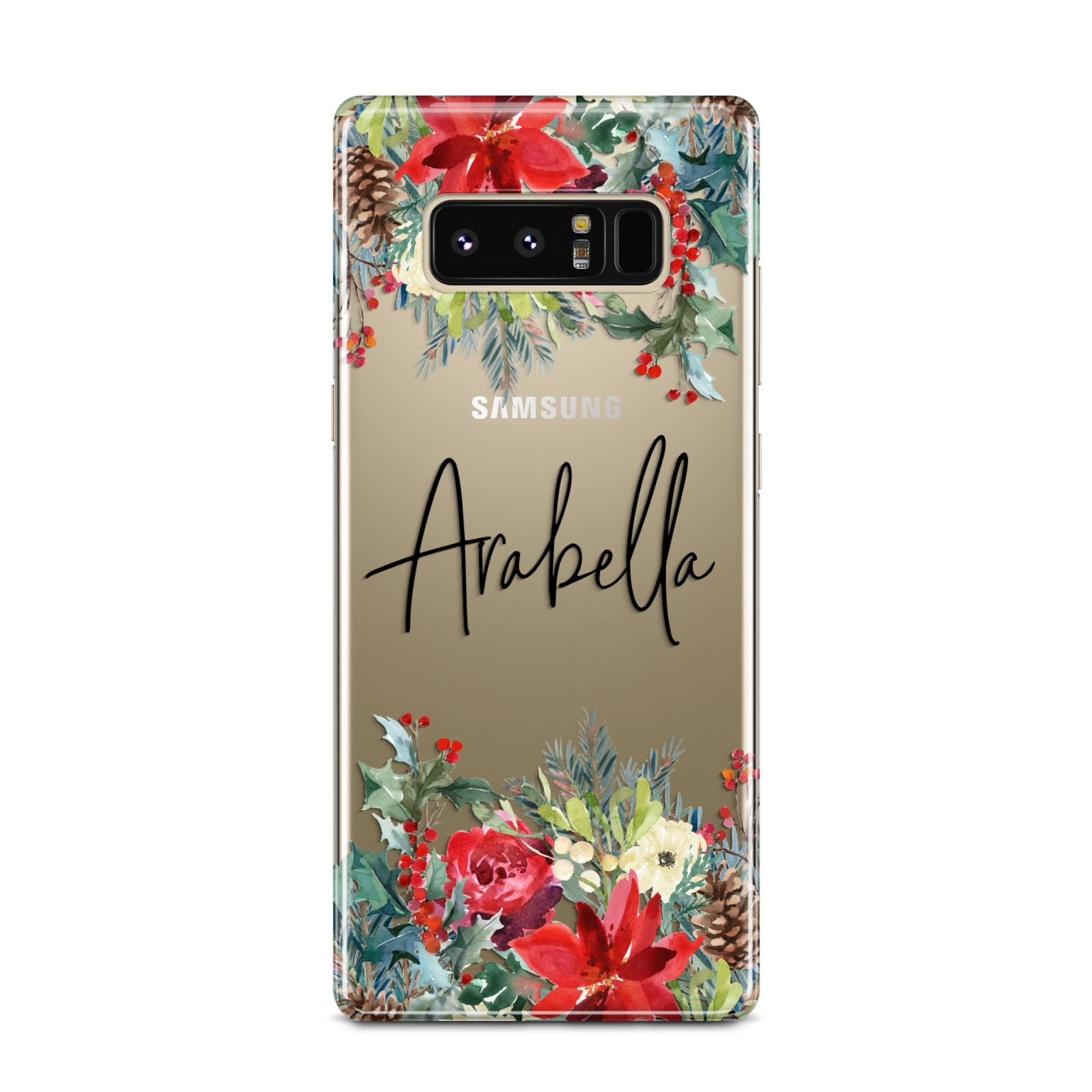 Personalised Floral Winter Arrangement Samsung Galaxy Note 8 Case