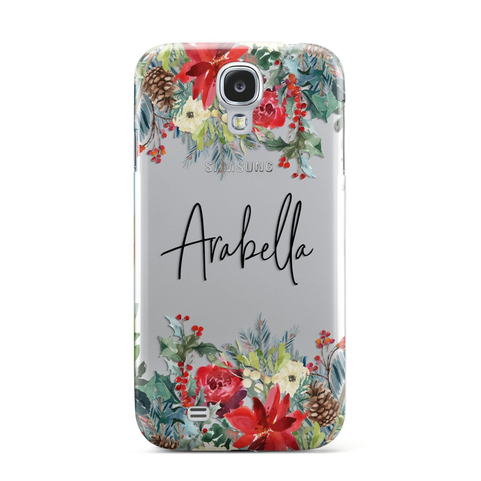 Personalised Floral Winter Arrangement Samsung Galaxy S4 Case