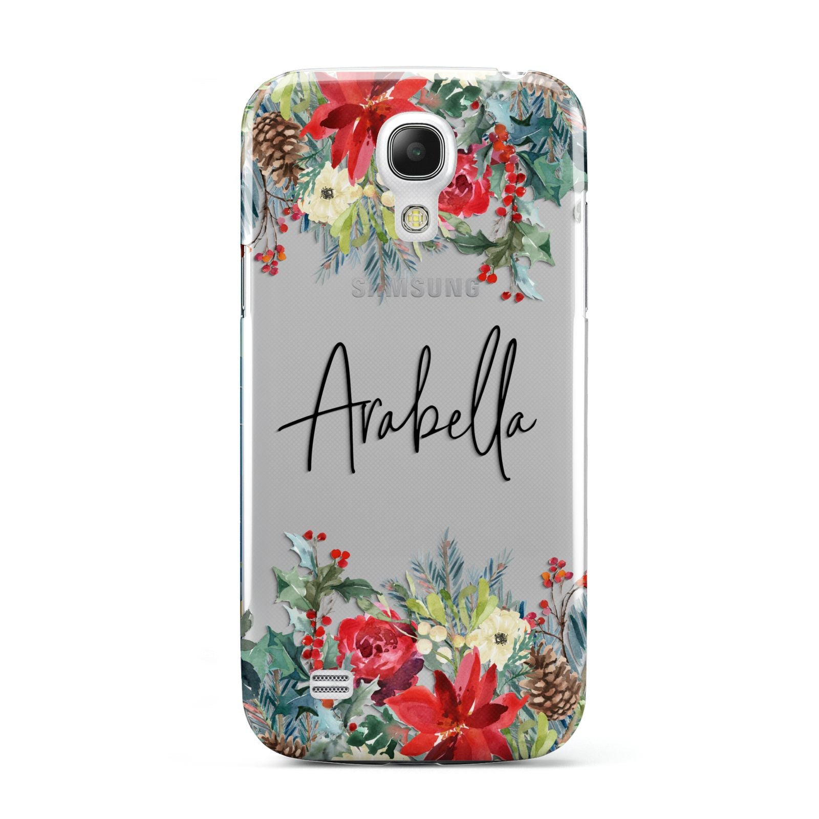 Personalised Floral Winter Arrangement Samsung Galaxy S4 Mini Case