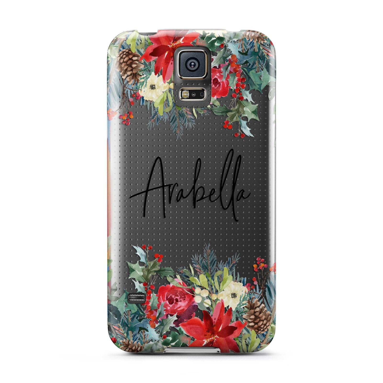 Personalised Floral Winter Arrangement Samsung Galaxy S5 Case
