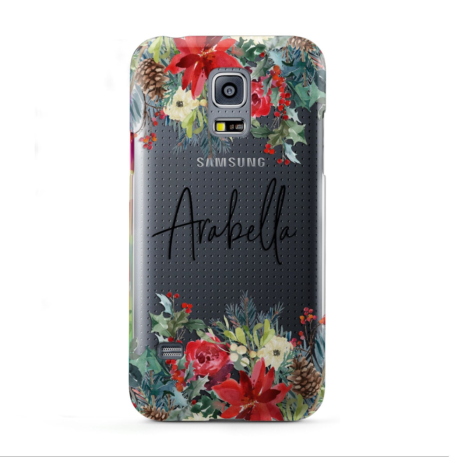 Personalised Floral Winter Arrangement Samsung Galaxy S5 Mini Case
