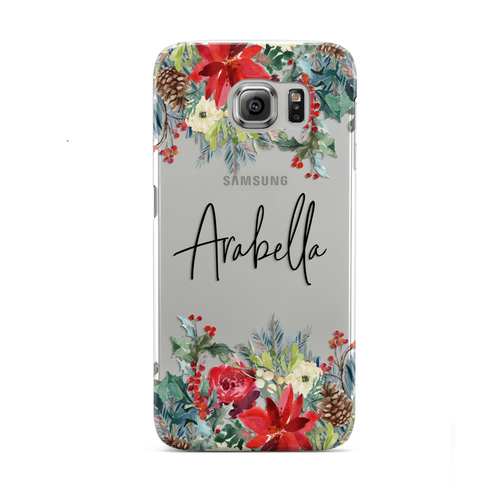 Personalised Floral Winter Arrangement Samsung Galaxy S6 Case