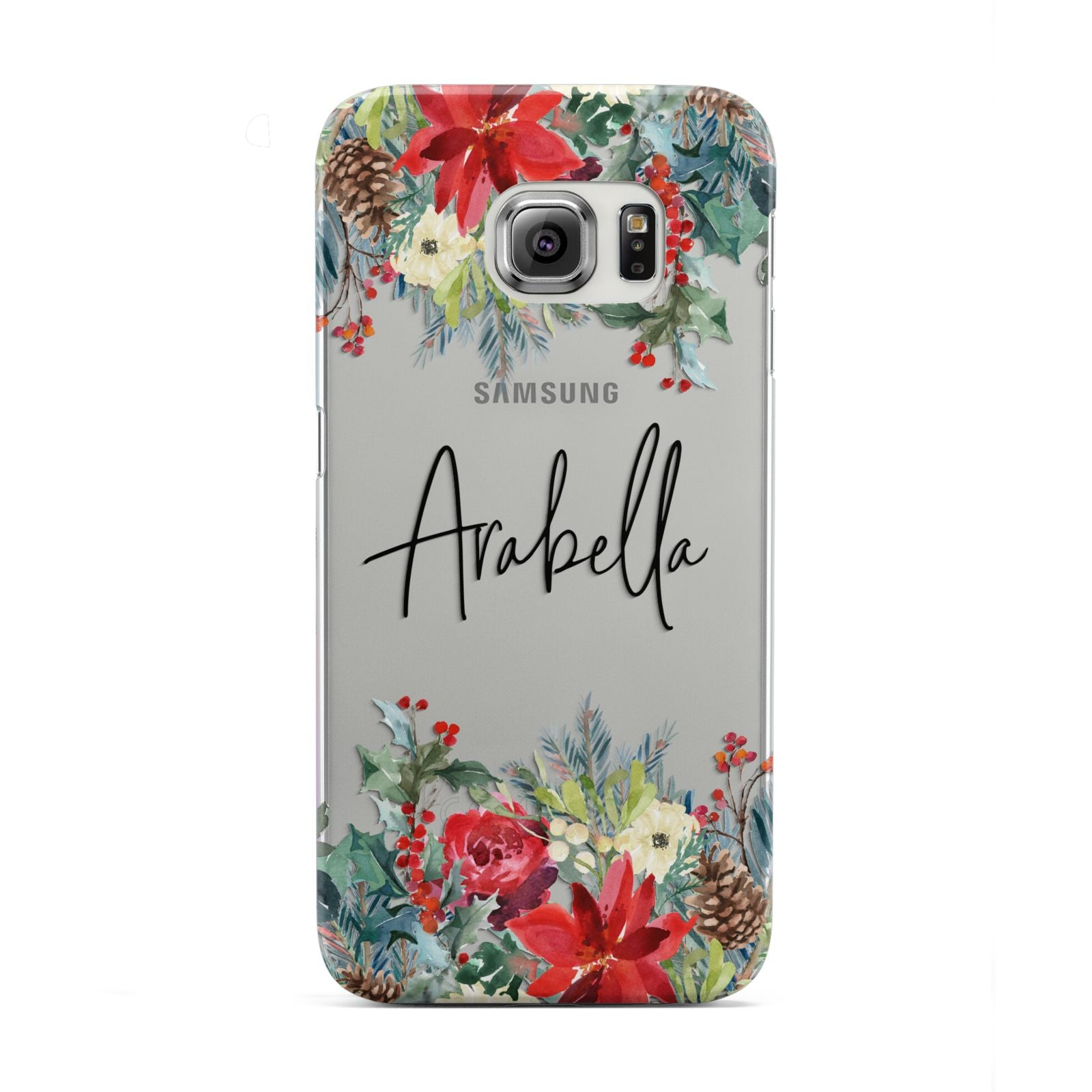 Personalised Floral Winter Arrangement Samsung Galaxy S6 Edge Case