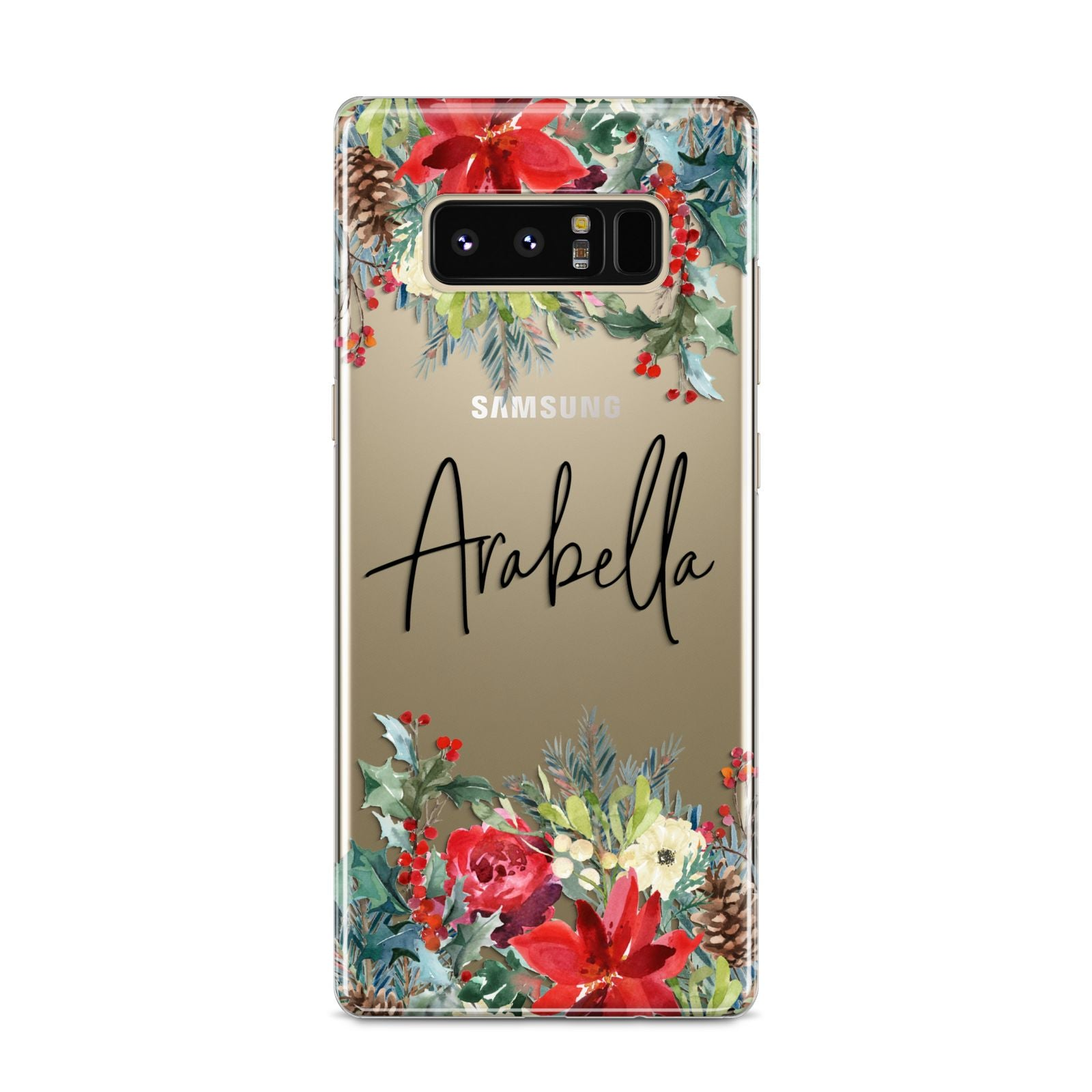 Personalised Floral Winter Arrangement Samsung Galaxy S8 Case