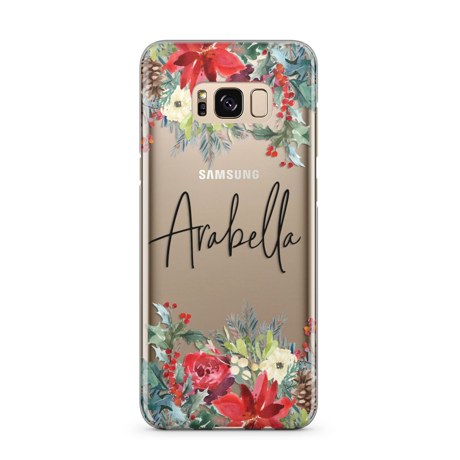Personalised Floral Winter Arrangement Samsung Galaxy S8 Plus Case