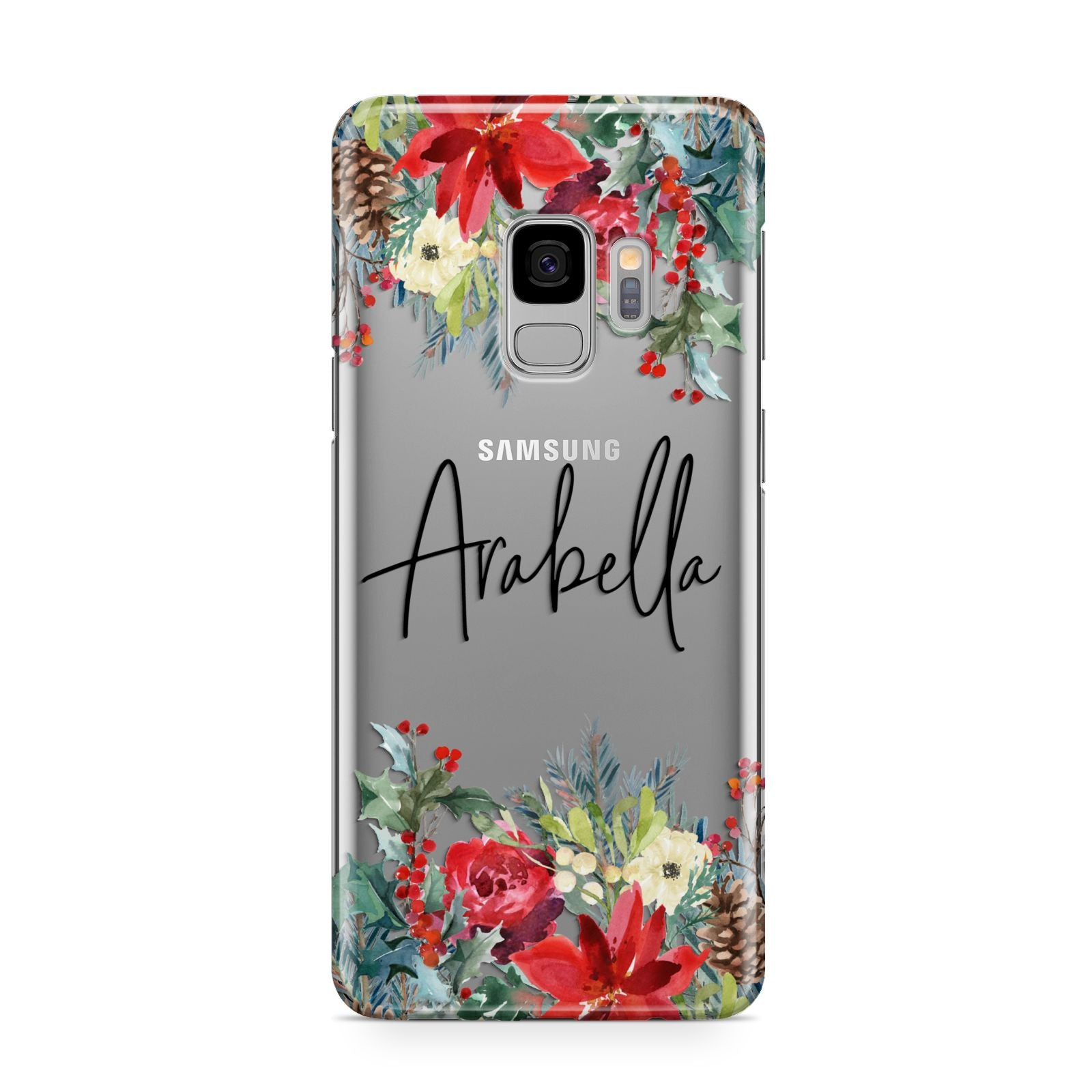 Personalised Floral Winter Arrangement Samsung Galaxy S9 Case