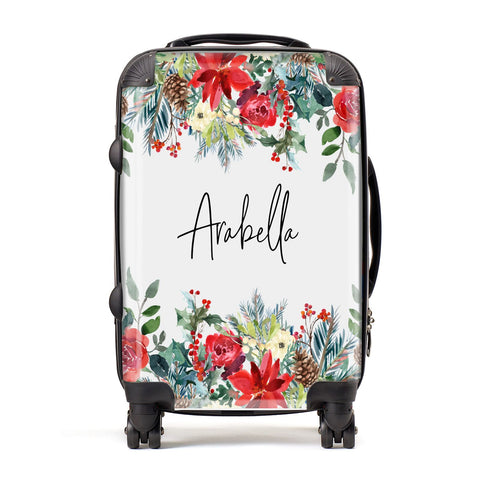 Personalised Floral Winter Arrangement Suitcase