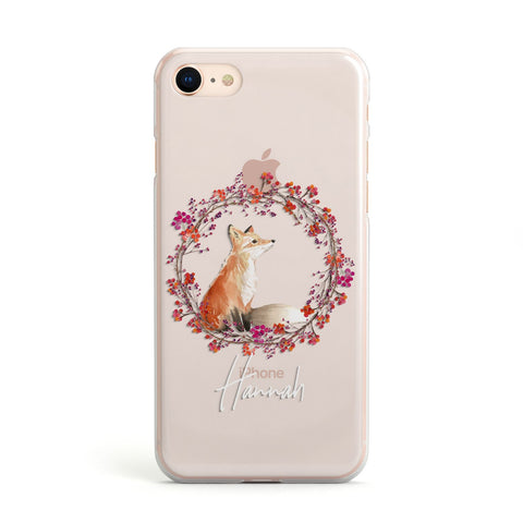 Personalised Fox Christmas Wreath  iPhone Case
