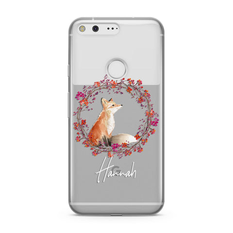 Personalised Fox Christmas Wreath Google Case