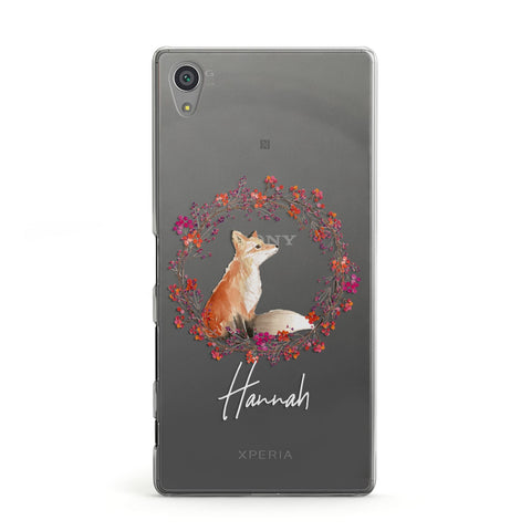 Personalised Fox Christmas Wreath Sony Case