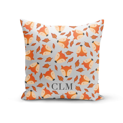 Personalised Fox Initials Cushion
