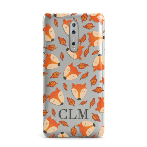 Personalised Fox Initials Nokia Case