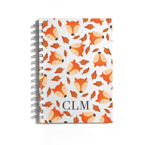 Personalised Fox Initials Notebook