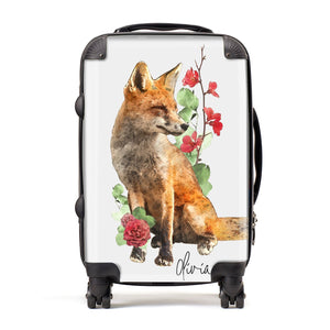 Personalised Fox Name Suitcase