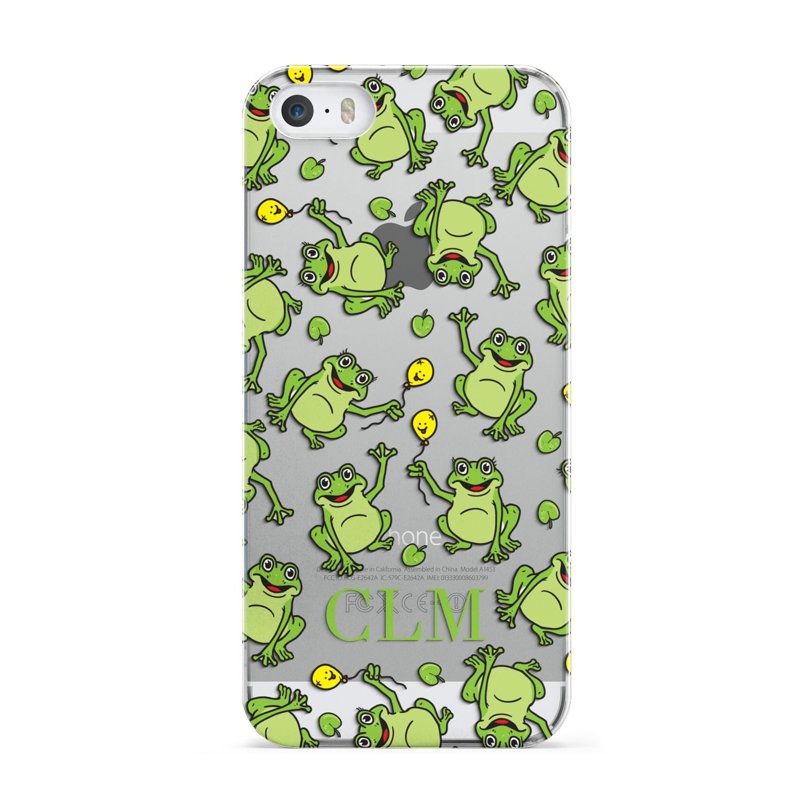 Personalised Frog Initials Apple iPhone 5 Case
