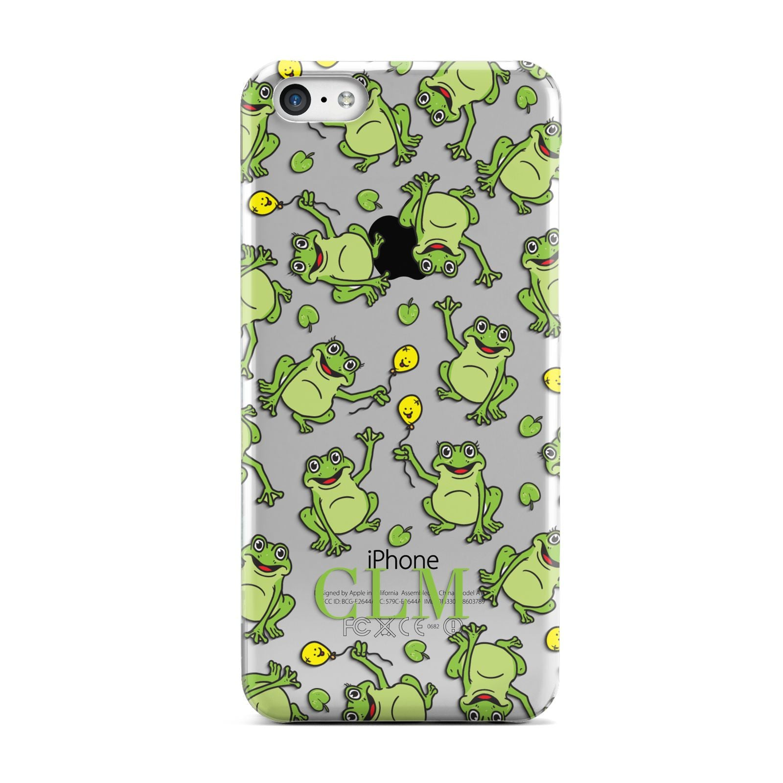 Personalised Frog Initials Apple iPhone 5c Case
