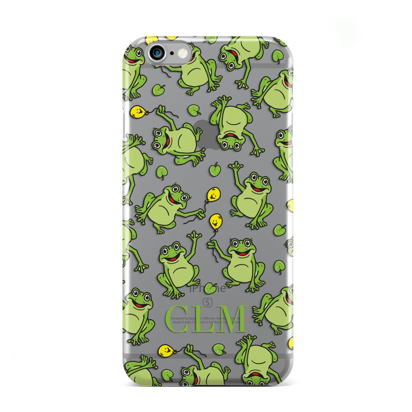 Personalised Frog Initials Apple iPhone 6 Case